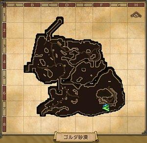 【DQH2】ゴルダ砂漠_マップ