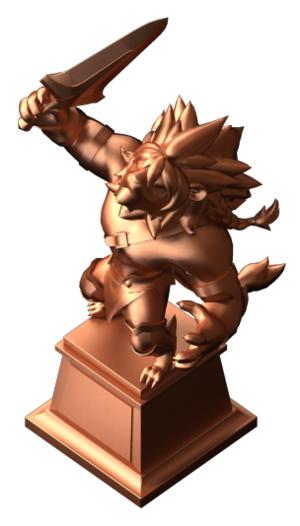 獣王ライオネル像