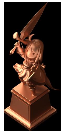 聖騎士ヒルデ像