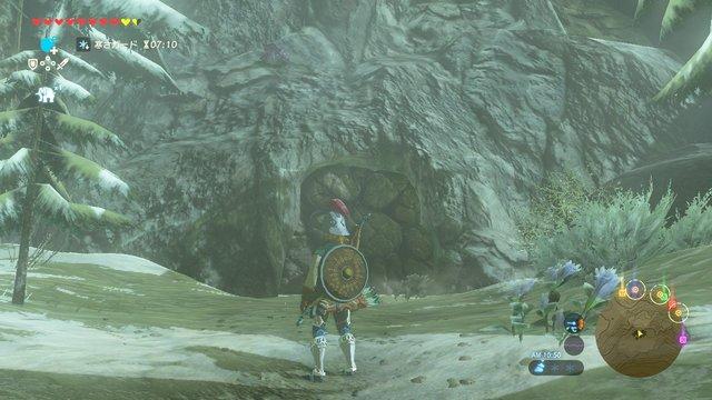 壊せる洞窟入り口