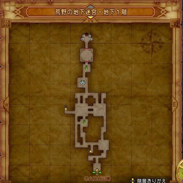 荒野の地下迷宮・地下1階