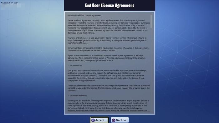 Fortnite End User License Agreement Postmetro
