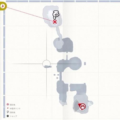ハニークレーターのマップ