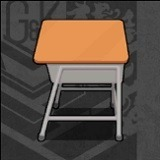 春の教室-学習机(授業モード)