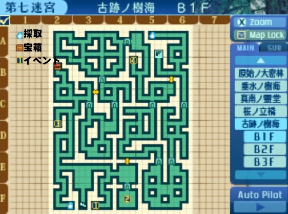 古跡ノ樹海B1F地図