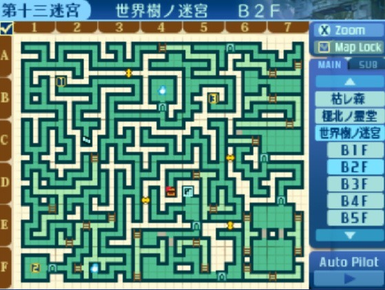 世界樹の迷宮B2F地図