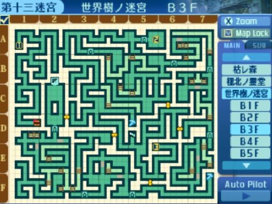 世界樹の迷宮B3F地図
