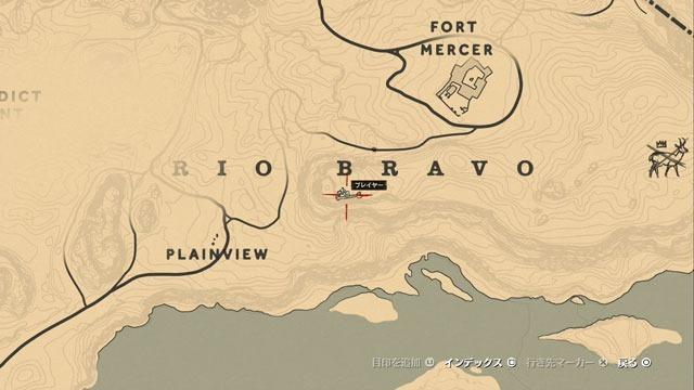 サンルイス川の化石2場所