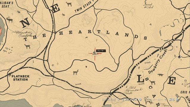 南の峡谷の化石場所