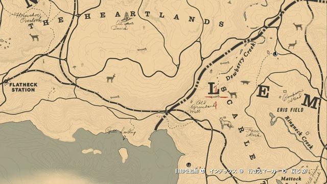 デューベリークリークの化石2場所