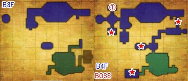 B4F闇の神殿B3F