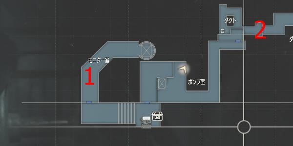 B3・モニター室