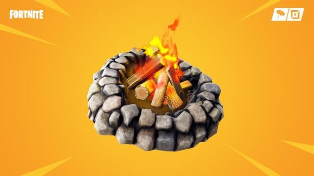 囲いの焚き火