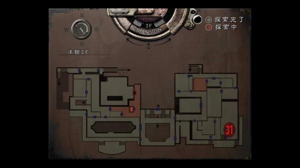 クリス編 洋館MAP12