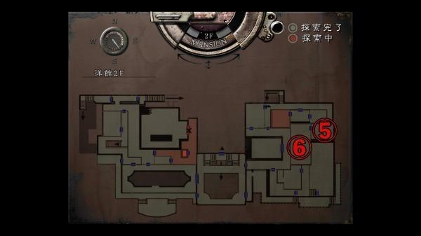 クリス編 洋館2回目MAP1