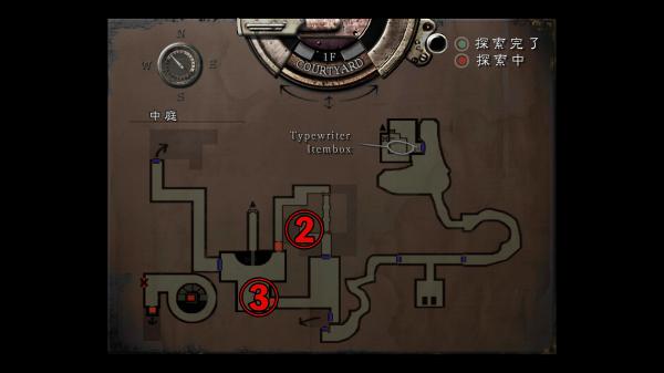 クリス編 中庭地下MAP