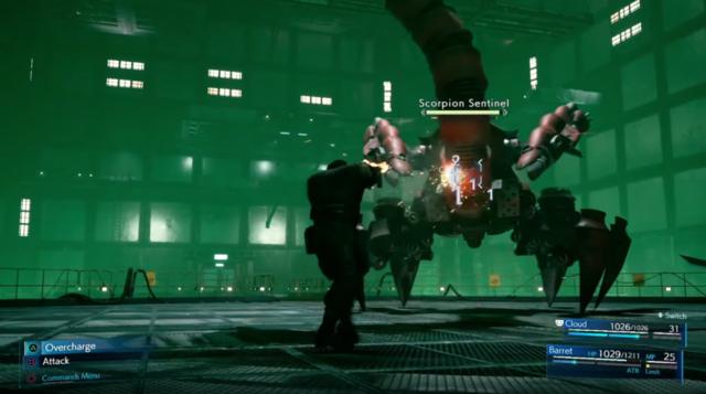バレットは敵から距離を取って銃で攻撃する