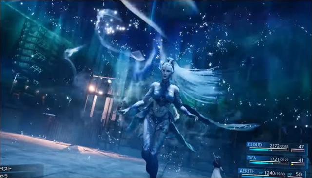氷の召喚獣シヴァの召喚シーン