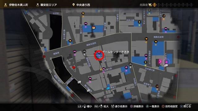 ゲームセンターささき_場所