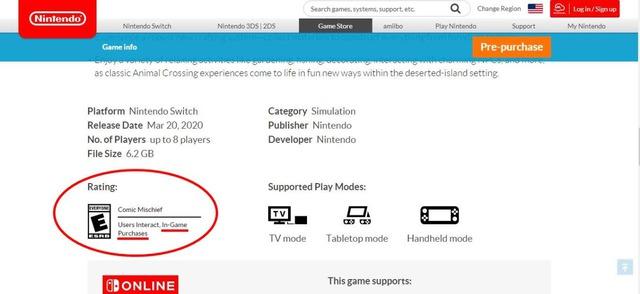 レーティング表記の部分に「In-Game Purchases」と表記されています