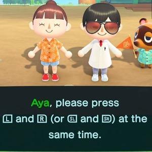 キャラクターを操作するコントローラーを指定されるので各Joy-Conの「LとR」または「SLとSR」を同時に押しましょう。