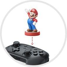 Nintendo Switch Proコントローラーの中央のNFCエリアにタッチします。