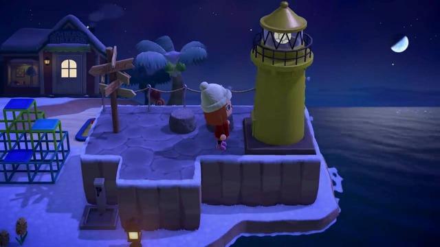 公式動画内では、灯台を設置しているのが確認できます。