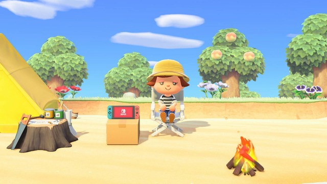 ソフトをアップデートしたお礼として、「Nintendo Switch」の家具が自身の住むテント(またはマイホーム)のポストに届きます。