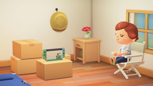 「Nintendo Switch あつまれ どうぶつの森 セット」に付属の「Joy-Con (L)/(R) 『あつまれ どうぶつの森』」でプレイした場合は、さらに「どうぶつのもりのSwitch」の家具も届きます。