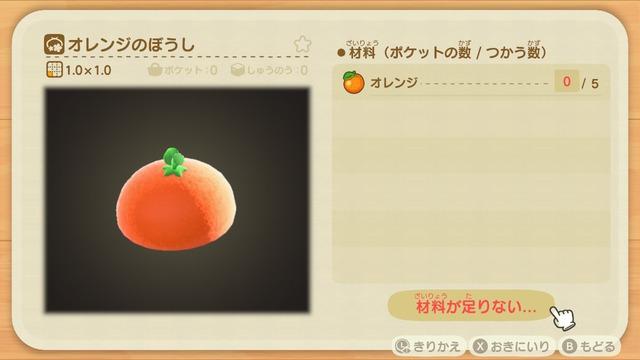 Diyレシピ(オレンジのぼうし)