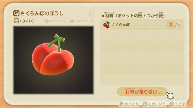 Diyレシピ(さくらんぼのぼうし)
