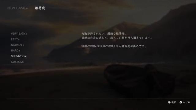 ラスアス2・難易度(NEW GAME+)