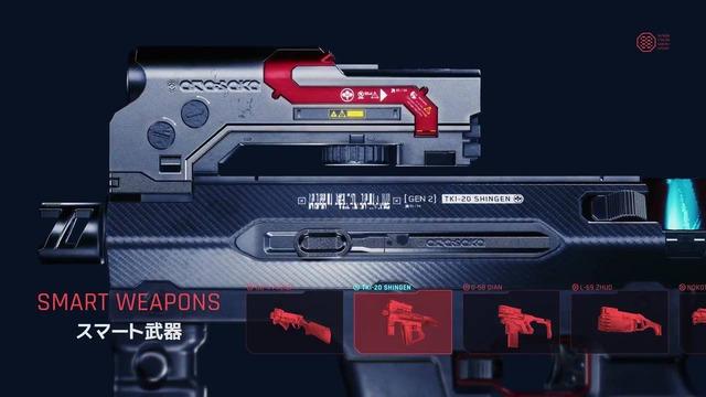 スマート武器は、標的にホーミングする小型ミサイルを発射する武器です。標的をロックオンすれば、自動的に命中してくれます。